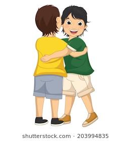 Hug clipart child hug. Children station