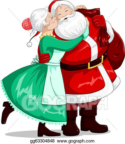 Vintage Cartoon of Mr and Mrs Snowman Wearing Red Hats,striped Scarf, Red  Ribbon, and Holding