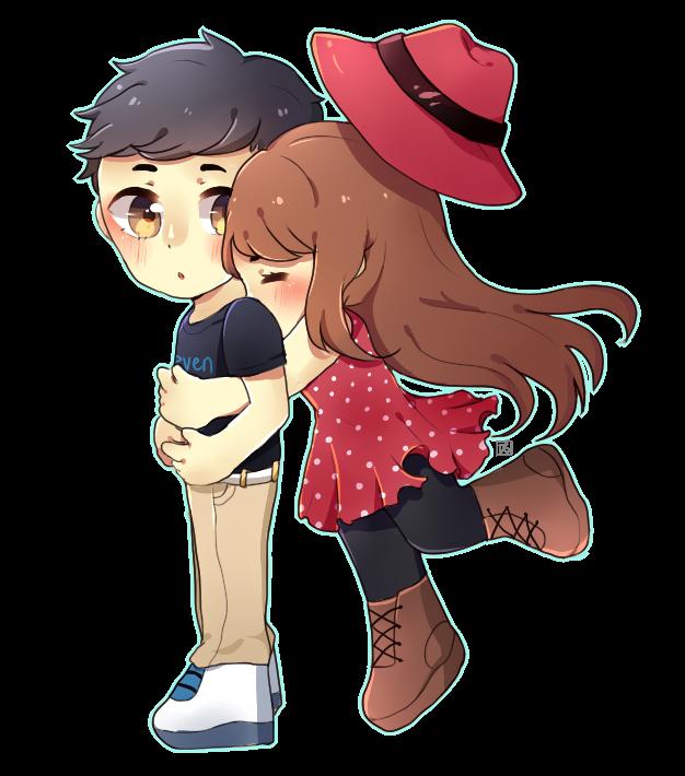 Hug clipart couple hug. Diane on twitter chibi