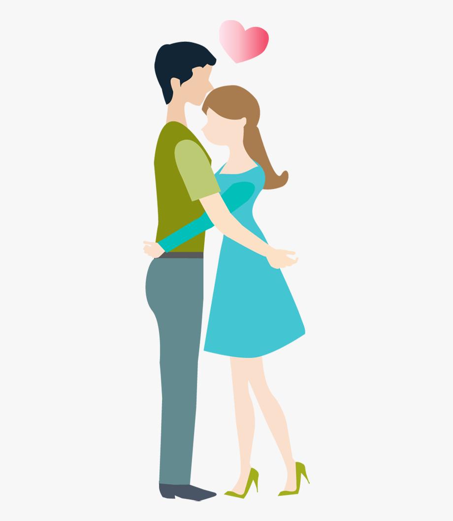 Hug clipart couple hug. Hugging transparent background cartoon