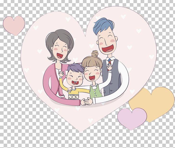 Hug clipart family. Cartoon illustration png affection