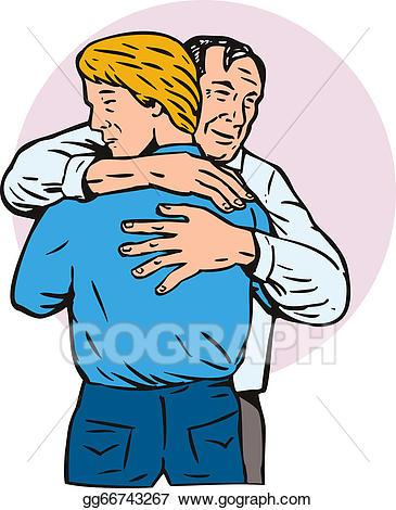 Son clipart hugging. Clip art father stock