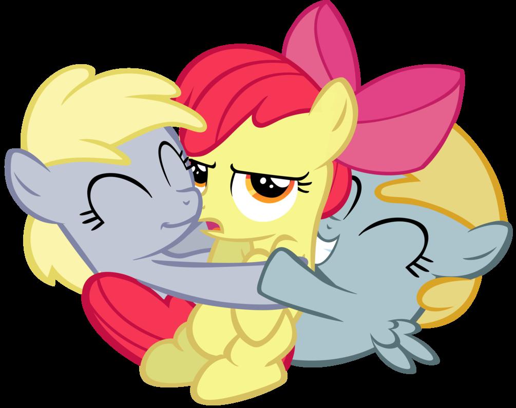 Hug horse