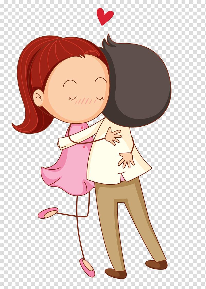 Love cartoon romance couple. Hug clipart lover hug