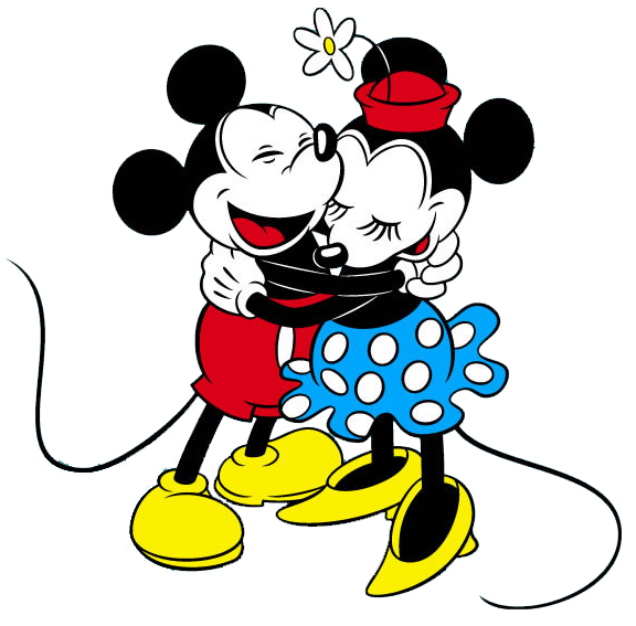 Classichug png mouse and. Kiss clipart mickey minnie