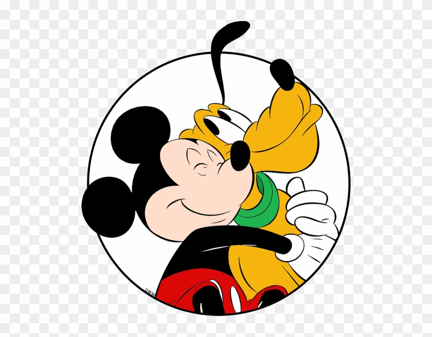 Hug clipart mickey mouse. Hugging pluto circle