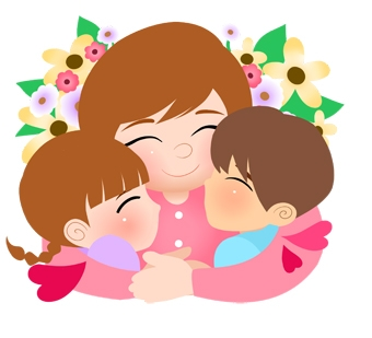 Free cliparts download clip. Hug clipart mother child