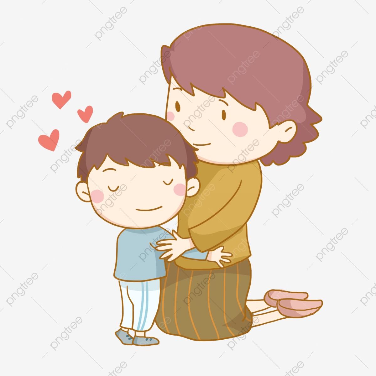 Hug clipart mother child. Thanksgiving maternal love son