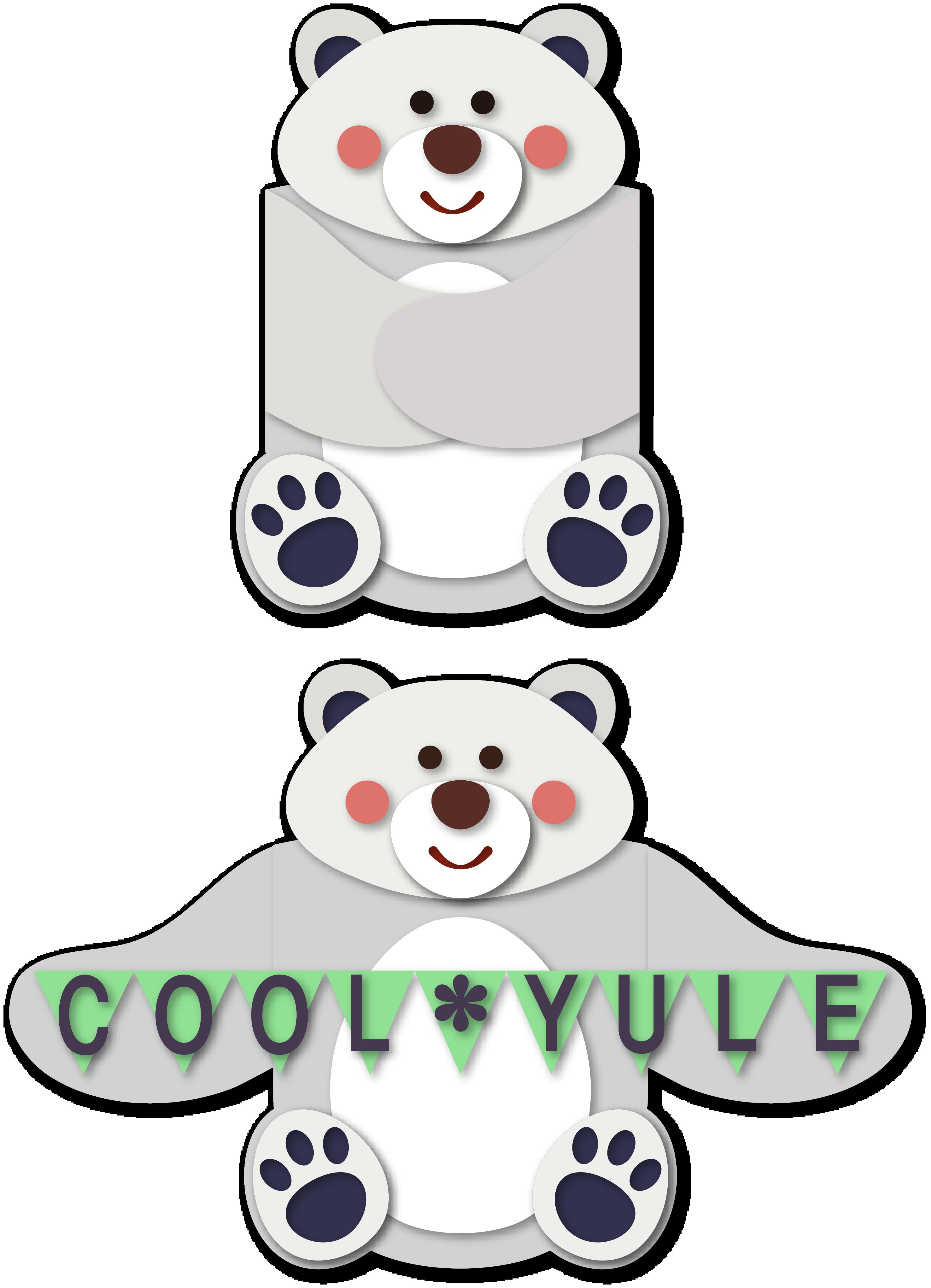 Arms card snapdragon snippets. Hug clipart polar bear