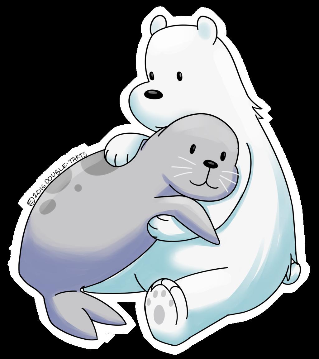 Hug clipart polar bear. Pin by averie on