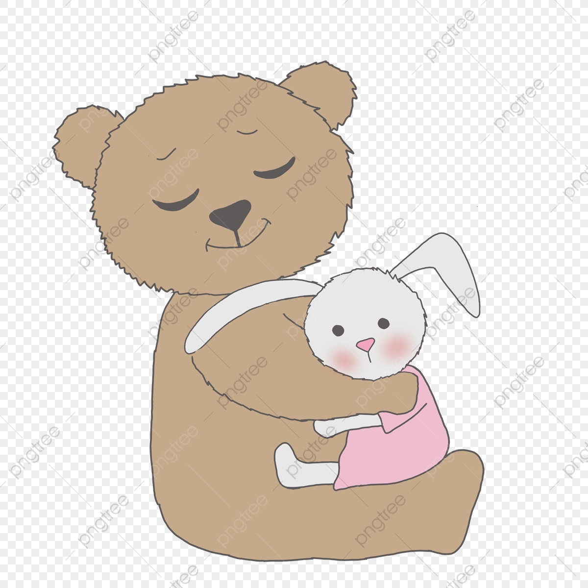 Hug clipart printable. Cute bear bunny