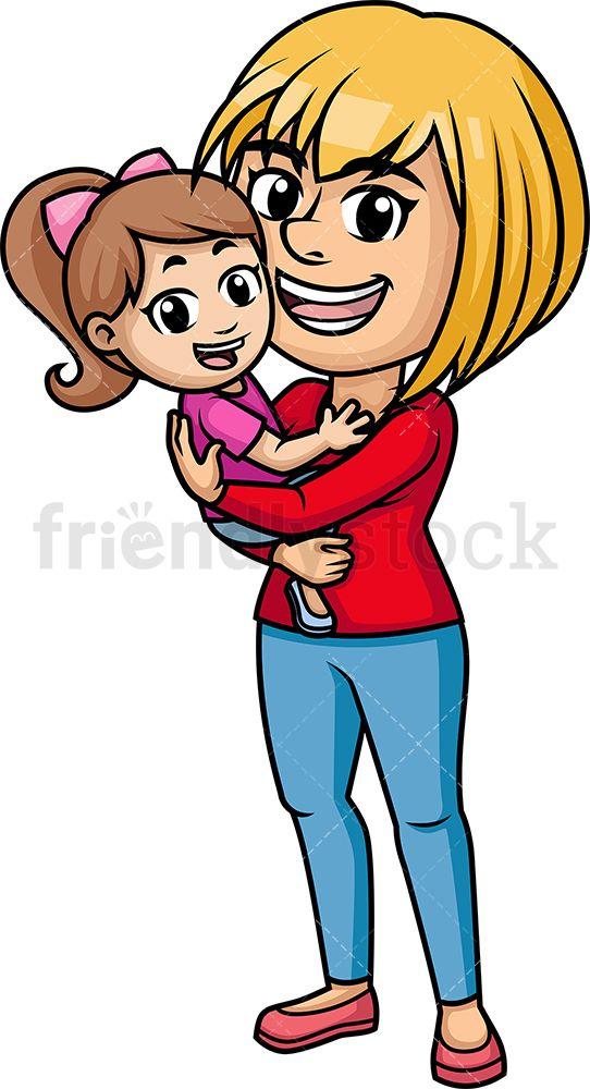 Mom hugging her child. Hug clipart printable