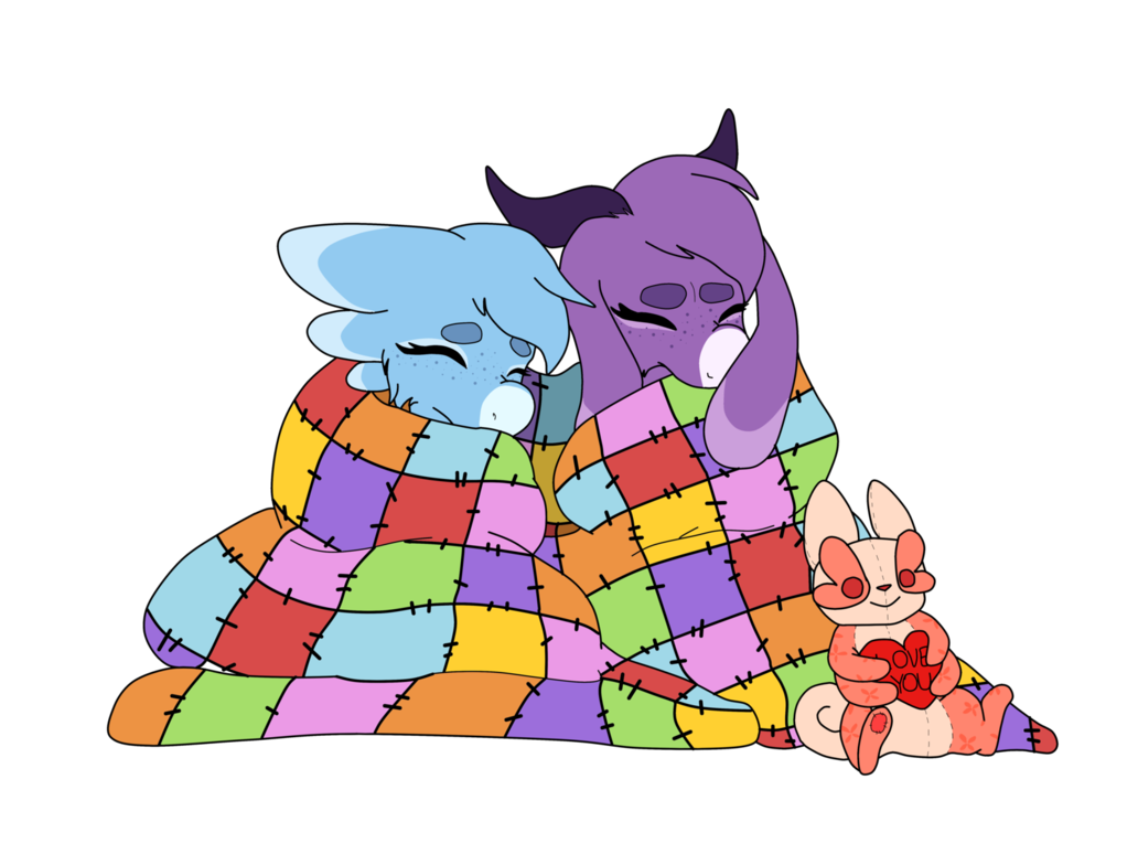 Patchwork quilt by leafywolf. Hug clipart quilter