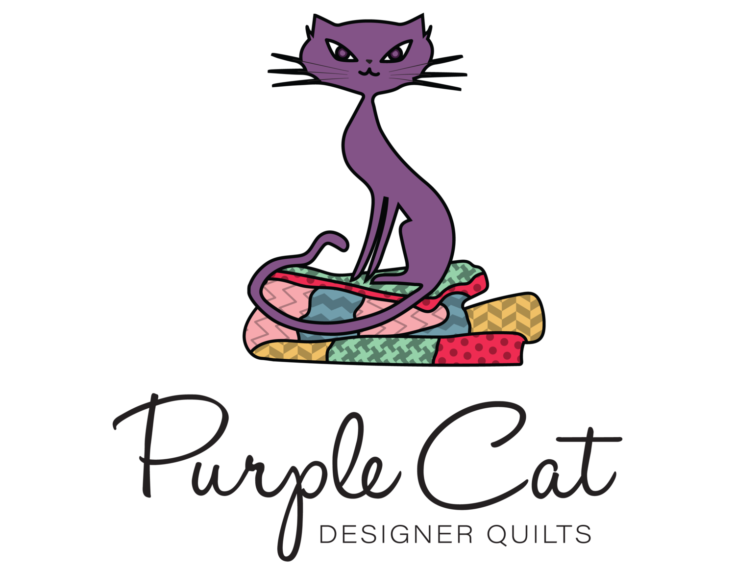 Quilting clipart transparent. About purple cat quilts