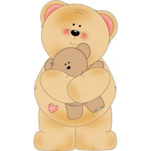 Hugging clipart teddy bear. A clip art be