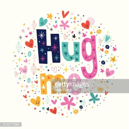 Me typography lettering decorative. Hug clipart text