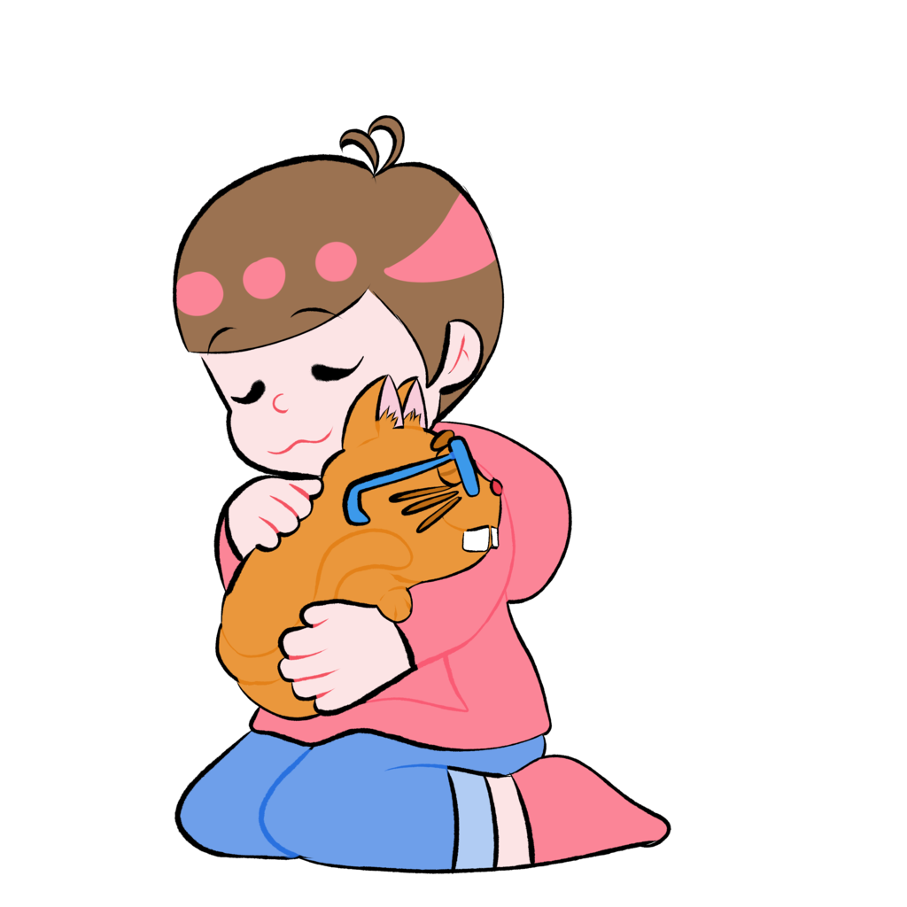 Hugging clipart toddler. Todomatsu hug by aigistone