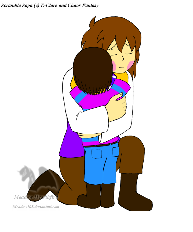 A hug from charmom. Hugging clipart toddler
