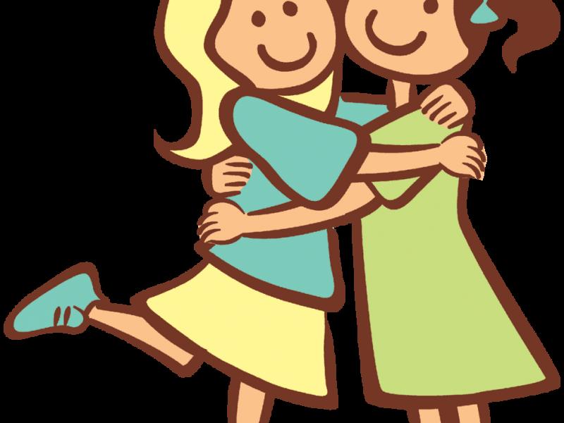 Friendship hug clip art. Hugging clipart toddler