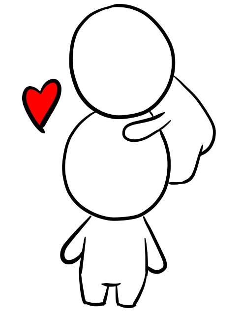 Head by nostalgic neophyte. Valentine clipart hug
