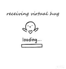Hug clipart vitual. Receiving virtual gifs tenor