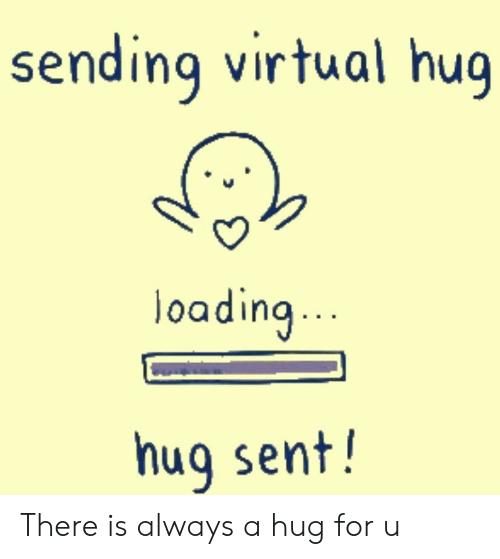Hug clipart vitual. Virtual gif