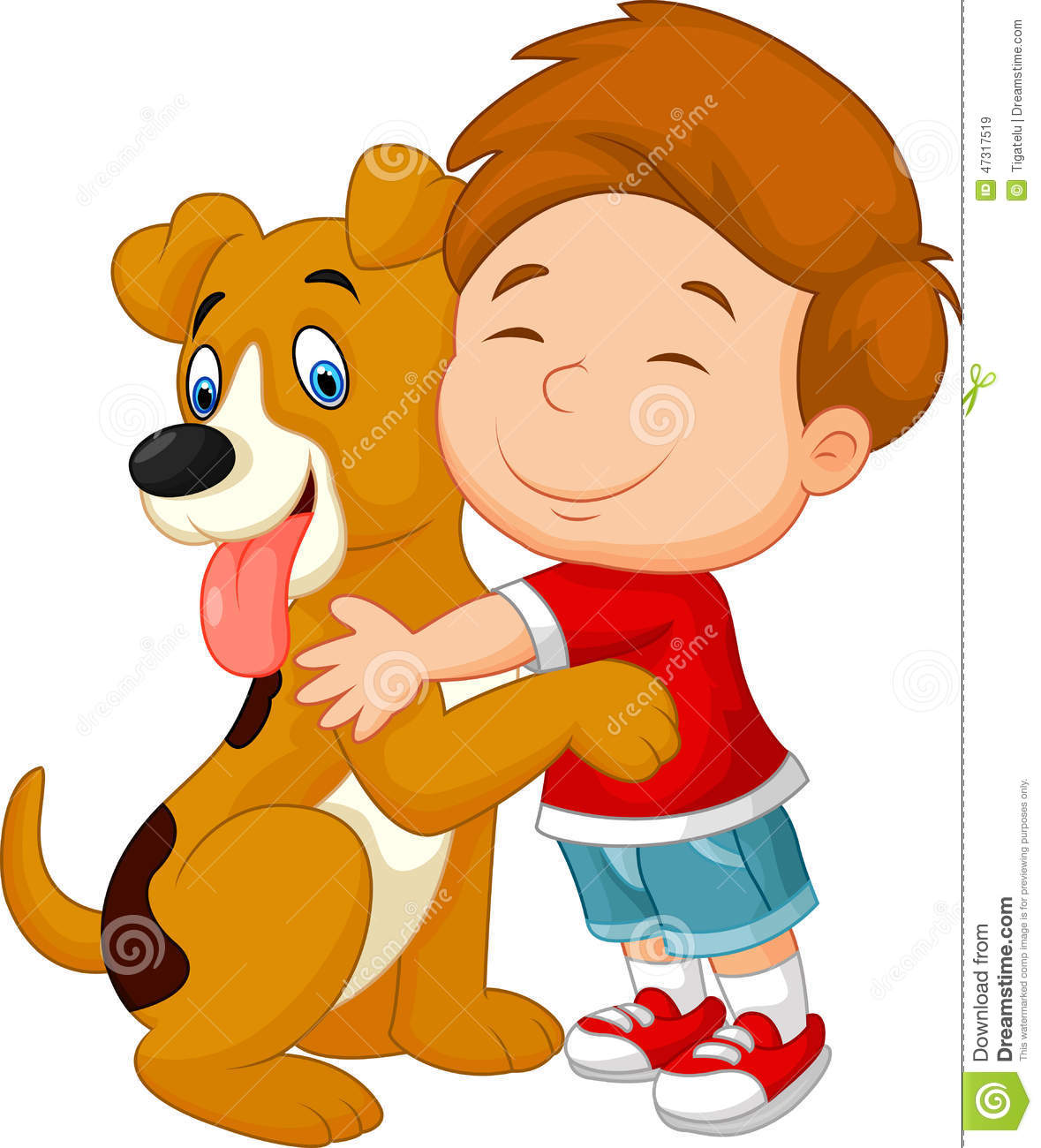 Hugging clipart. Little boy