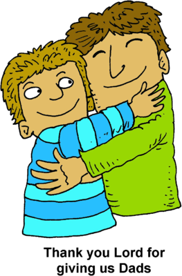 Hugging clipart. Image father son christart