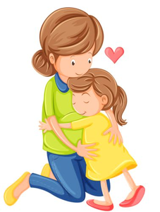 Mom child free images. Hugging clipart
