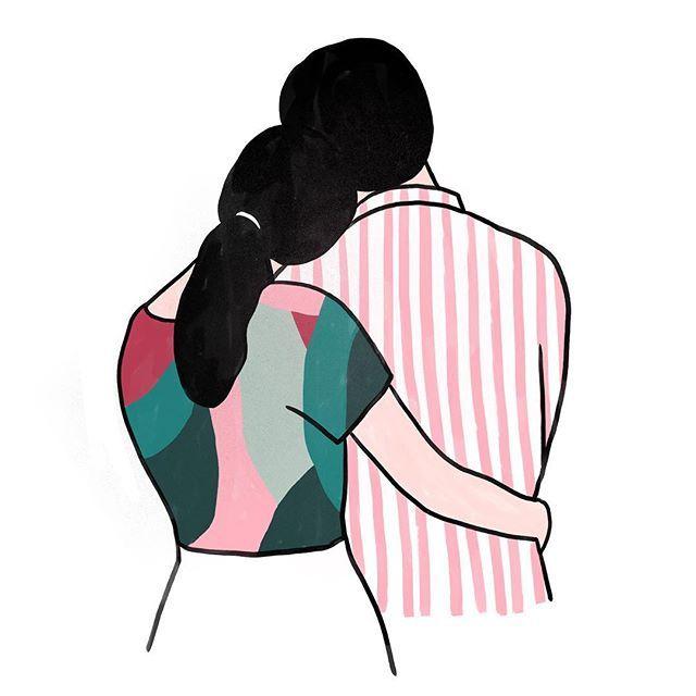 Hugging clipart back hug. Lovers illustration artwork patterns