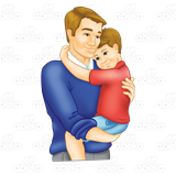 Dad and hugging . Son clipart hug daddy