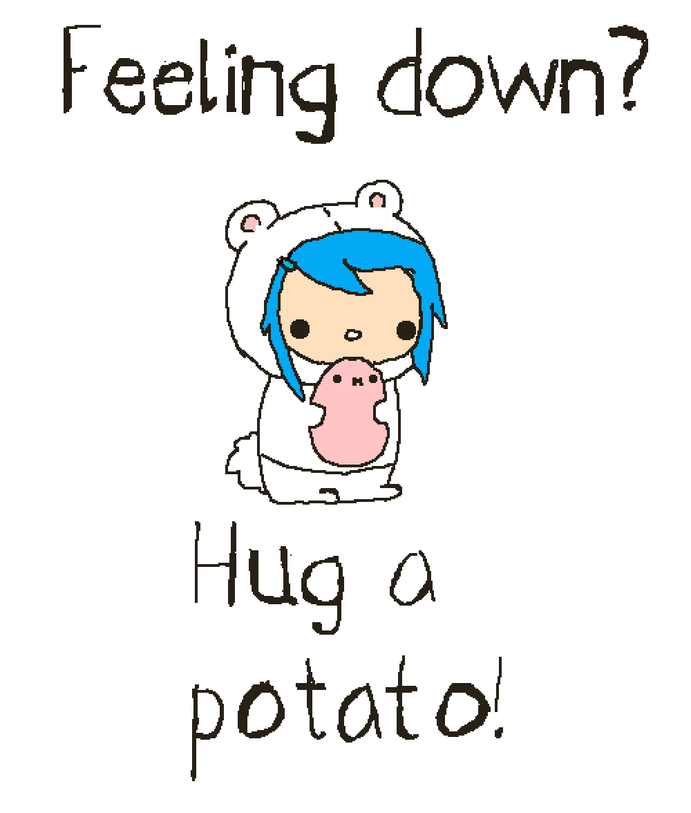 Hugging clipart feel good. Pixilart feeling down hug