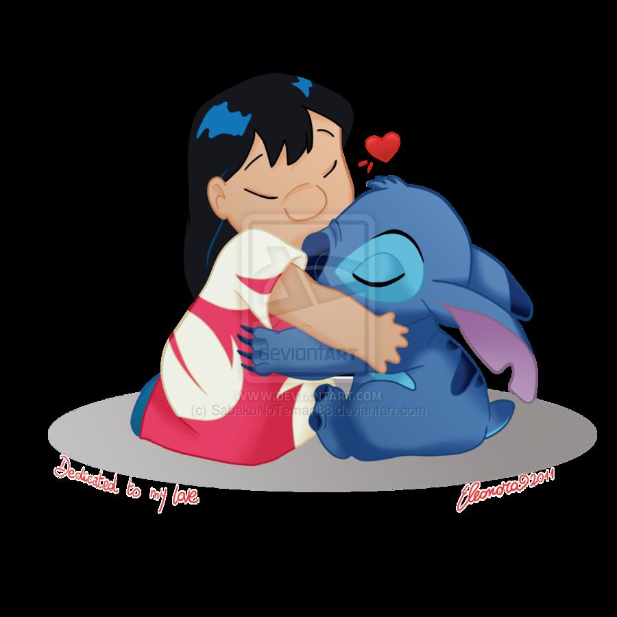 Lilo and stitch hug. Hugging clipart feel good