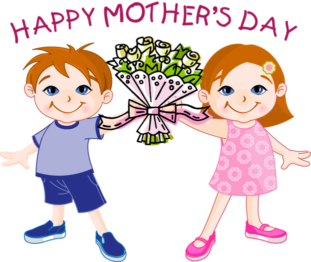 Words clipart mothers day. Happy flowers