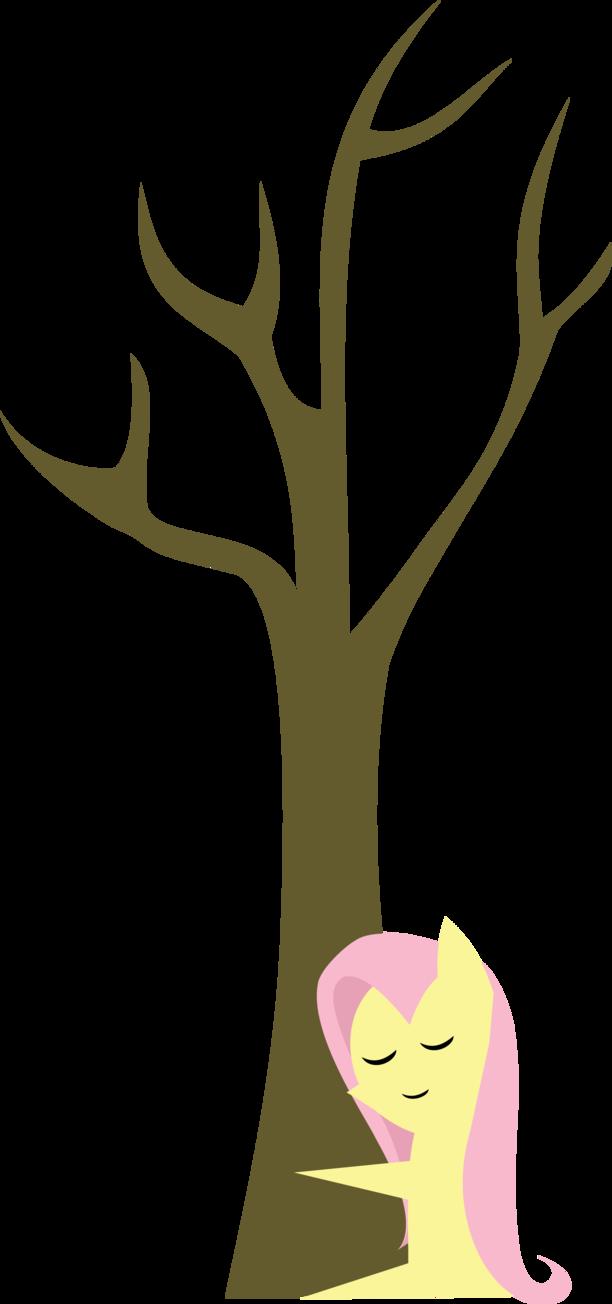 Hugging clipart hug tree. Fluttershy hugs a eqd