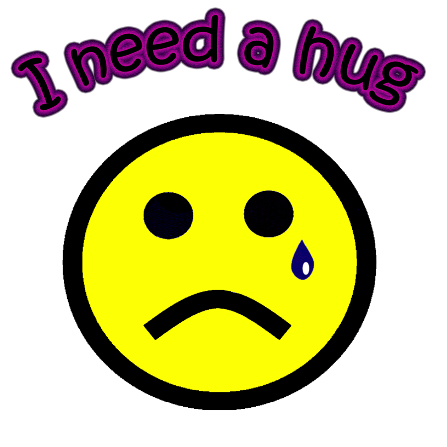 I need a hug. Hugging clipart miss you