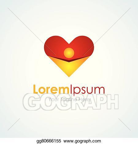Vector love man heart. Hugging clipart share