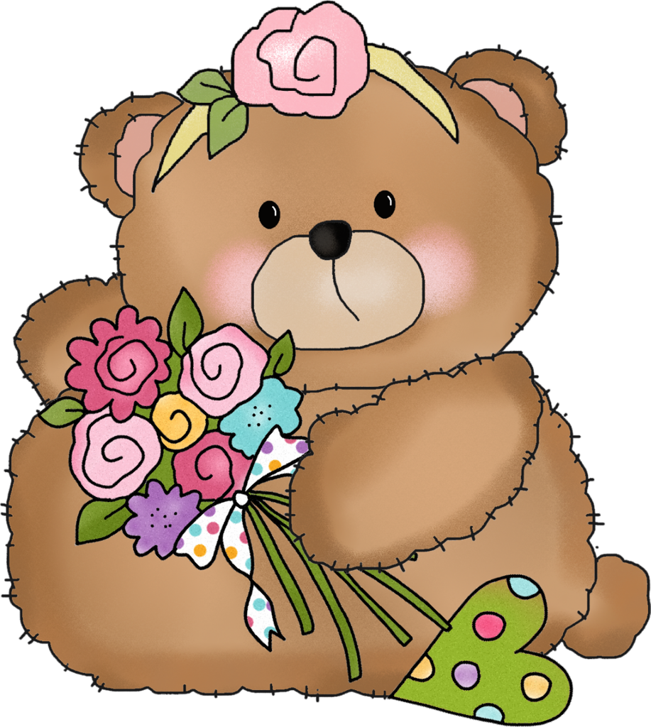 Kiss clipart teddy bear. B png happy birthday