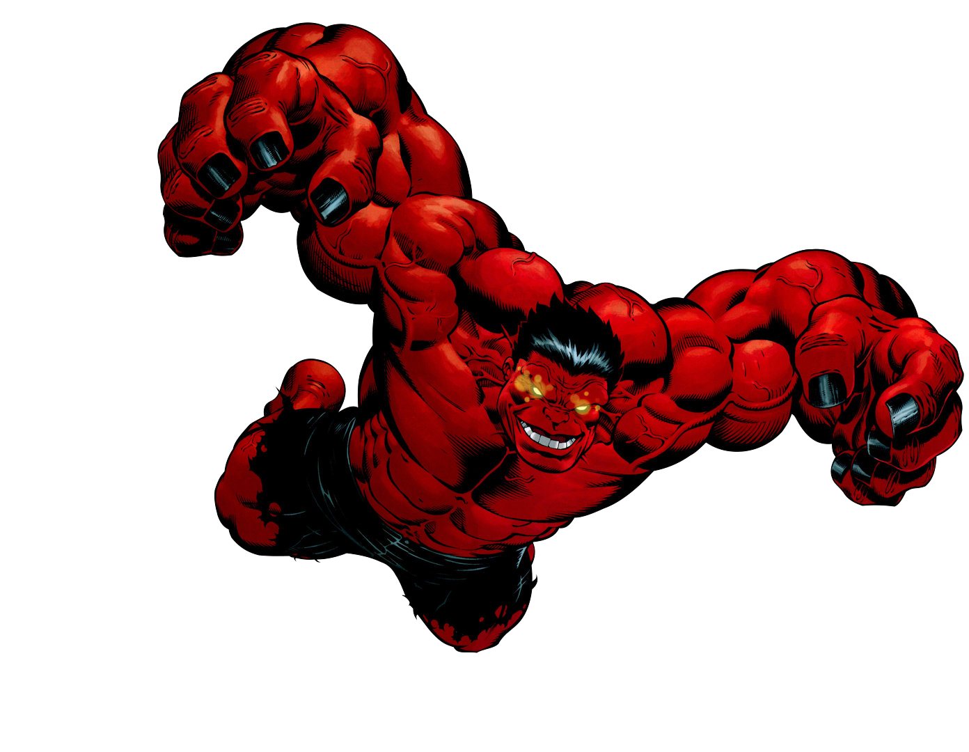 Hulk clipart 1080p. Red render by bobhertley