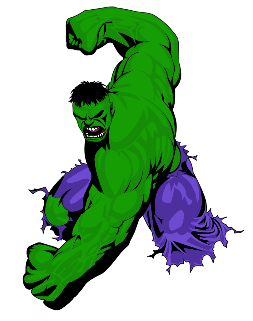 Hulk clipart drawing. Clip art wesomeness hero