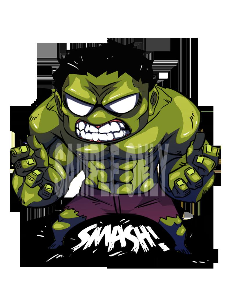 Chibi smash by ah. Hulk clipart drawing