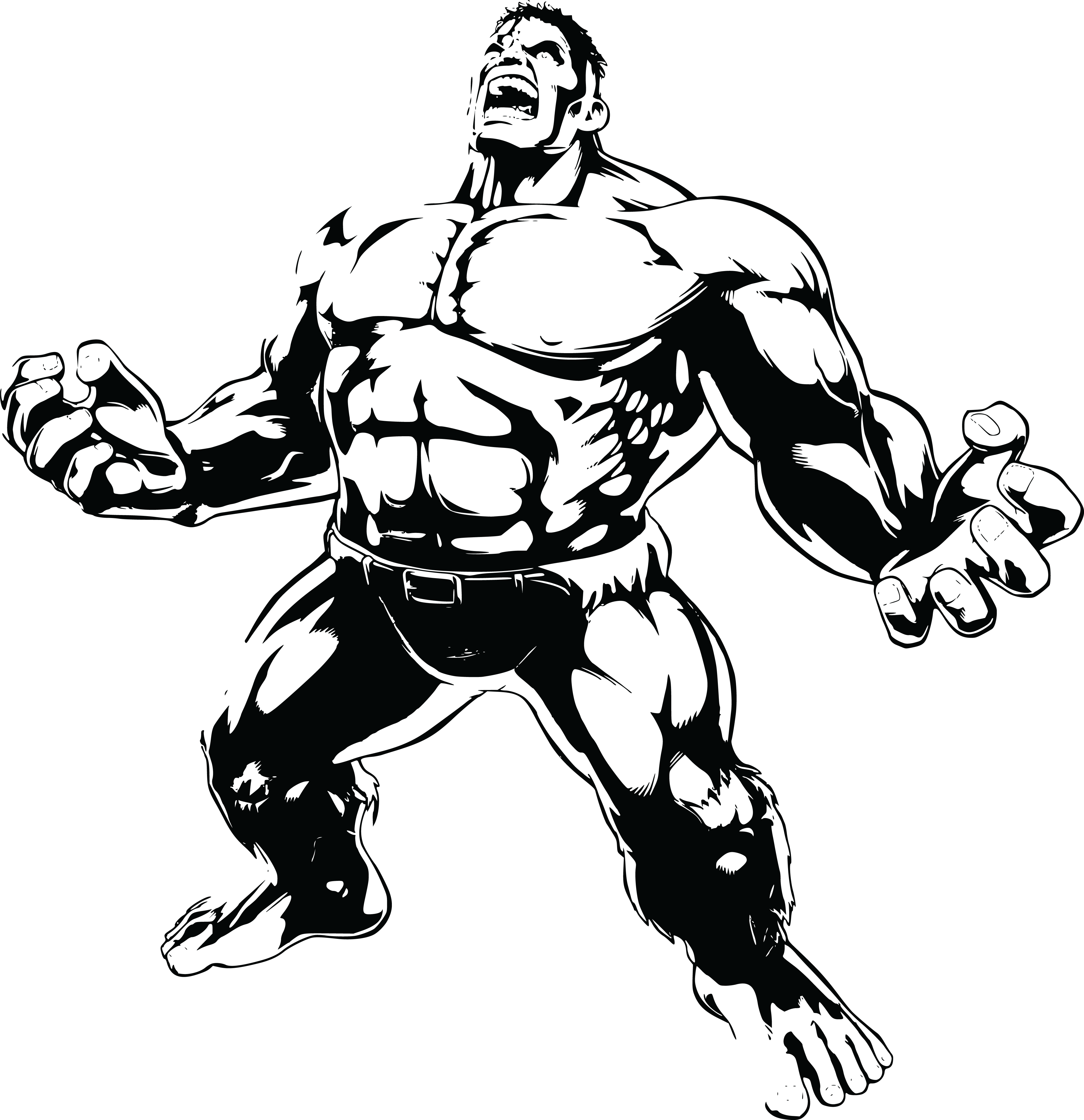 Hulk clipart drawing. Clip art hogan png