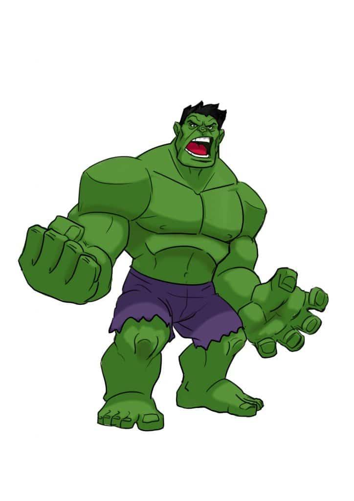 Drawing free download best. Hulk clipart easy cartoon