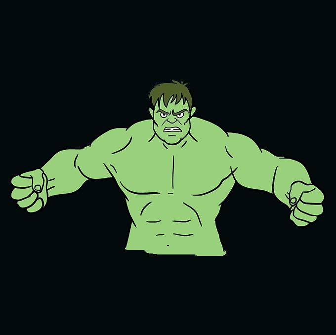 Hulk clipart easy cartoon. How to draw the