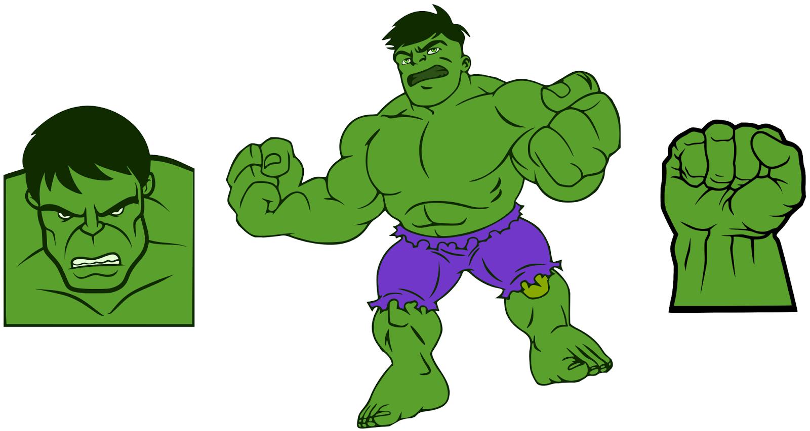Krafty nook the incredible. Hulk clipart file