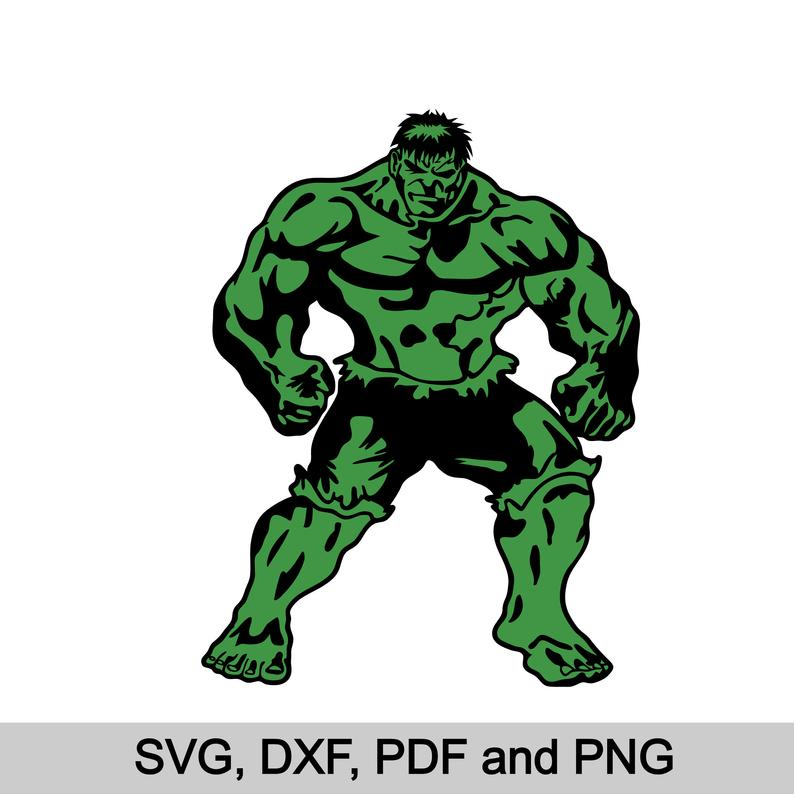 Svg superheroes silhouette vector. Hulk clipart file