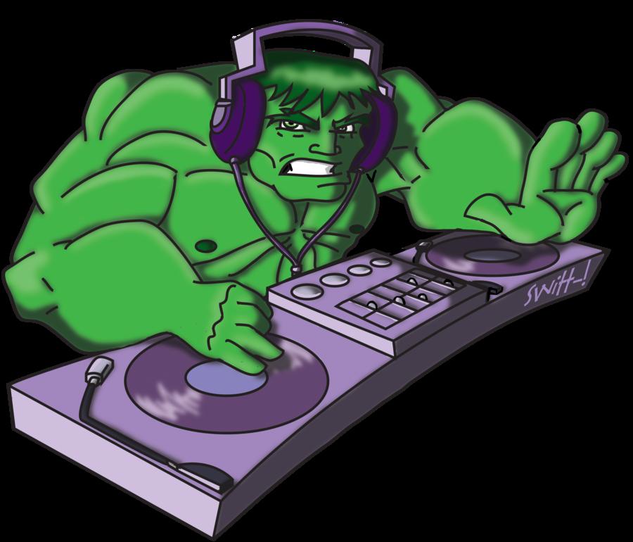 Hulk clipart old cartoon. Dj smash by theswitt