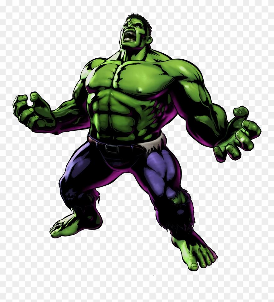 Hulk clipart renders. Umvc official render art