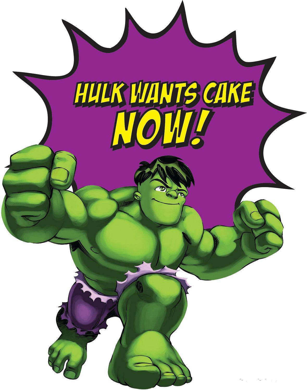 Hulk clipart superhero squad. Party sign ideas