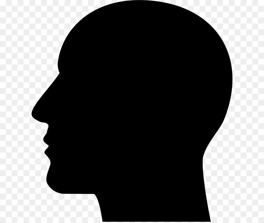 Human clipart. Silhouette head clip art